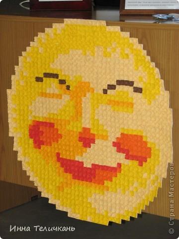 """Солнце-мозаика. Размер модуля 1,5 см. Всего понадобилось около 1500 модулей. Складывала базовую форму """"Блинчик"""". фото 1"""