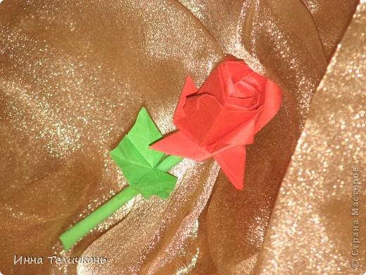 Розочка оригами фото 1