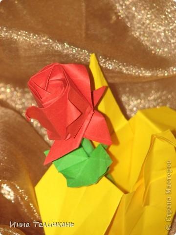 Розочка оригами фото 3