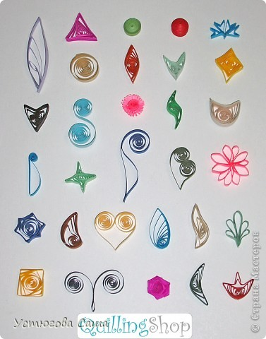 вот недавно в инете видела заготовки к квиллингу.Не я делала но приспичило показать) вот такие формы разноцветные можно делать....
