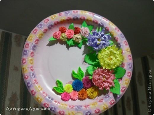 Эту работу сделала буквально за несколько часов! Увидела тарелочку в магазине  и сразу возникла идея!!! фото 1
