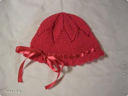 шапочка и пинетки для маленькой принцессы фото 2