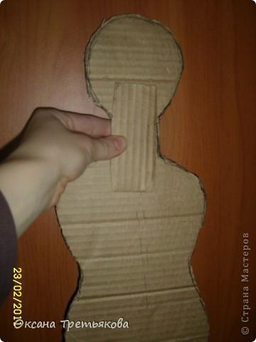 МК по пакетнице на картонном каркасе. фото 5