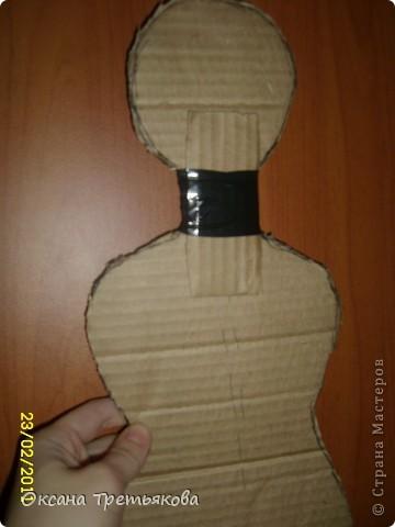 МК по пакетнице на картонном каркасе. фото 6