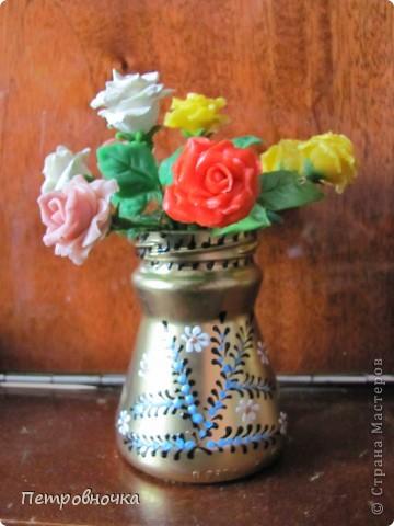 Продолжаю учиться лепить розы. Учусь варить фарфор. Эксперементирую с клеями. фото 2