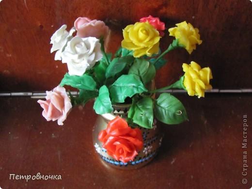 Продолжаю учиться лепить розы. Учусь варить фарфор. Эксперементирую с клеями. фото 1