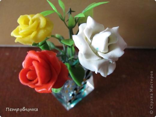 Продолжаю учиться лепить розы. Учусь варить фарфор. Эксперементирую с клеями. фото 11