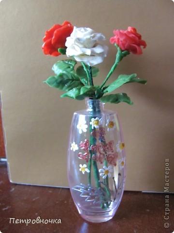 Продолжаю учиться лепить розы. Учусь варить фарфор. Эксперементирую с клеями. фото 5