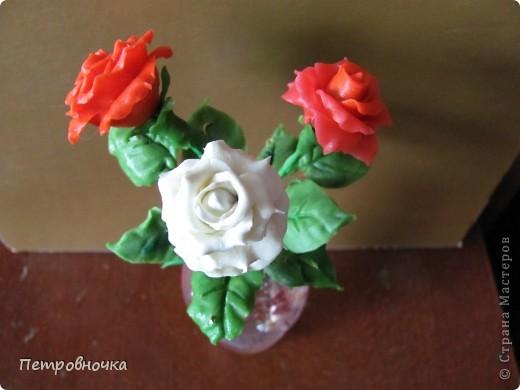 Продолжаю учиться лепить розы. Учусь варить фарфор. Эксперементирую с клеями. фото 12