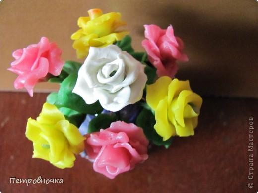 Продолжаю учиться лепить розы. Учусь варить фарфор. Эксперементирую с клеями. фото 13