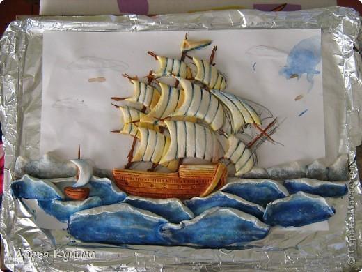 Все, конечно же, догадались - кораблик по МК Ларисы Ивановой. О своем корабле скажу так - нравится, но довольна не очень. Теперь, зная свои ошибки, хочу сделать еще один)) фото 4