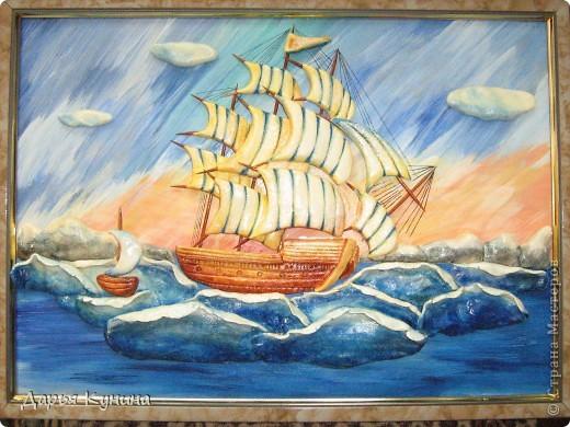 Все, конечно же, догадались - кораблик по МК Ларисы Ивановой. О своем корабле скажу так - нравится, но довольна не очень. Теперь, зная свои ошибки, хочу сделать еще один)) фото 6
