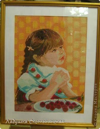 Портрет девочки Кати. Работа моей мамы.