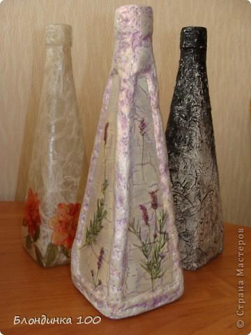 Нравится декорировать бутылки такой формы и, по-моему не только мне. фото 1
