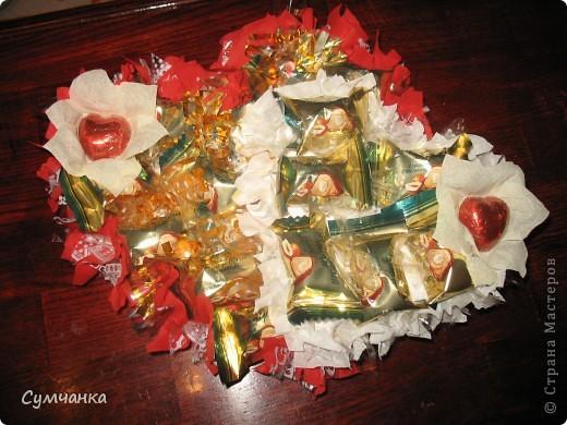 Сладкие Сердца (букет из конфет) фото 1