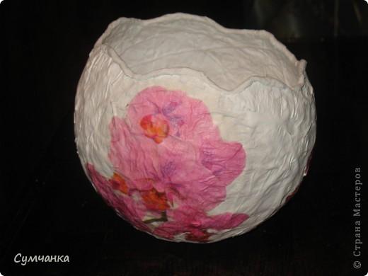 """Ваза-яйцо """"Орхидеи"""" фото 3"""