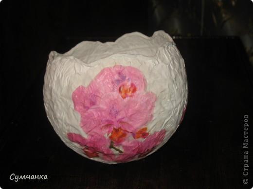 """Ваза-яйцо """"Орхидеи"""" фото 1"""