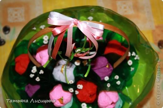 конфетно-цветочная корзина фото 2