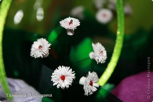 конфетно-цветочная корзина фото 4