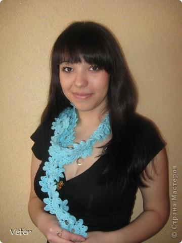 Ажурный шарфик  фото 1