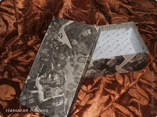 Для старых фотографий я сделала вот такую коробочку. Простенько, но смотрится оригенально.... фото 2