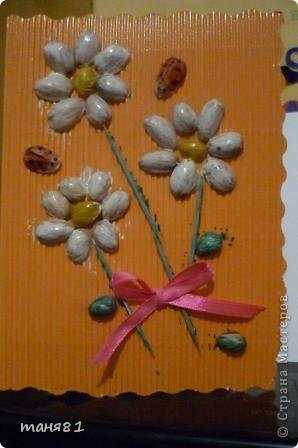 Вот такую открытку сделали с Соней(2,5года) на 8 марта бабушке. фото 1
