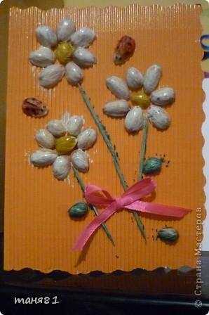 Вот такую открытку сделали с Соней(2,5года) на 8 марта бабушке. фото 2