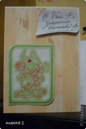 Вот такую открытку сделали с Соней(2,5года) на 8 марта бабушке. фото 3