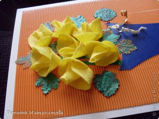 Этой открыткой София(3,2г)поздравила тётю с Днём рождения фото 1