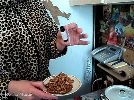 Чурчхе́ла (груз. ჩურჩხელა, тур. Pestil Cevizli Sucuk — дословно: суджук с грецкими орехами) — восточная сладость из нанизанных на нитку орехов в загустевшем сиропе на основе виноградного сока. Отличается высокими питательными свойствами благодаря большому содержанию глюкозы и фруктозы (от 30 до 52 %), растительных жиров, белков, органических кислот (1,1-2 %), азотистых и фенольных веществ, витаминов. фото 2