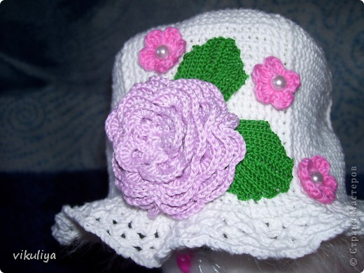 """Шляпка """"Цветочная поляна"""" фото 1"""