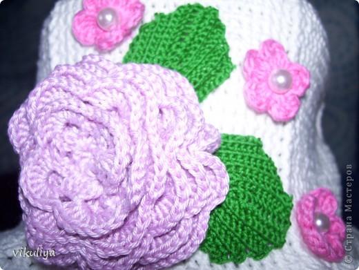 """Шляпка """"Цветочная поляна"""" фото 3"""