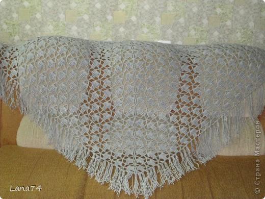 Подарок бабушке (серенькая шаль) фото 2