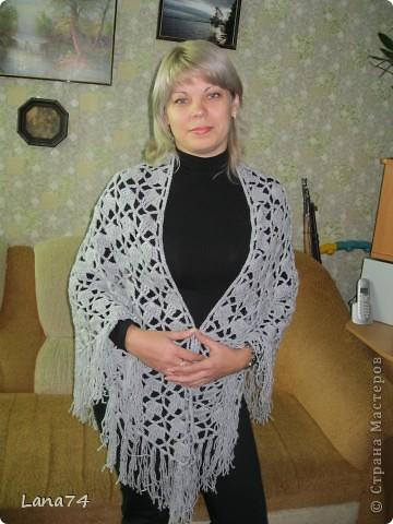 Подарок бабушке (серенькая шаль) фото 1