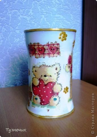 это был большой стеклянный стакан...а получилась вот такая вазочка)))) фото 2