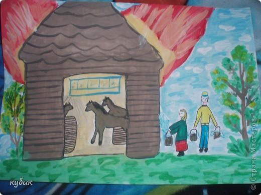 вот такие рисунки он нарисовал на конкурсы в школу фото 1