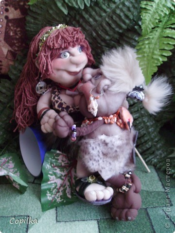 Жила-была в древнем лесу красавица-троглодитка.И звали её - Трогли.Вот она-красотулечка! фото 12