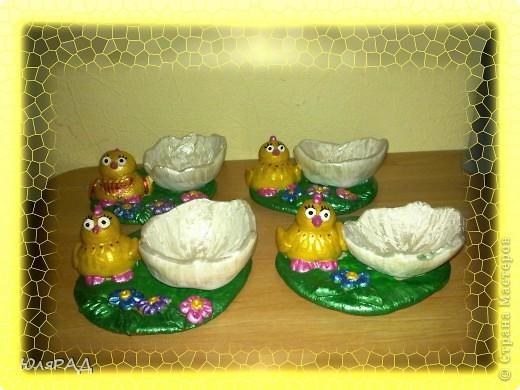Потихоньку готовлю подарочки к Пасхе)))) решила сделать такие подставки под яйца в виде цыплят фото 3