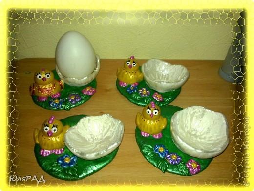 Потихоньку готовлю подарочки к Пасхе)))) решила сделать такие подставки под яйца в виде цыплят фото 4