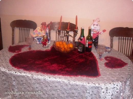 Одежда для стола ко дню Святого Валентина фото 1