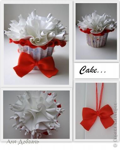 Коробочка в форме кекса, сделанная по мастер классу.