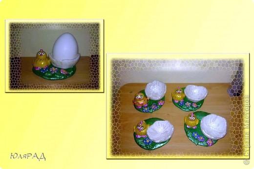 Потихоньку готовлю подарочки к Пасхе)))) решила сделать такие подставки под яйца в виде цыплят фото 1