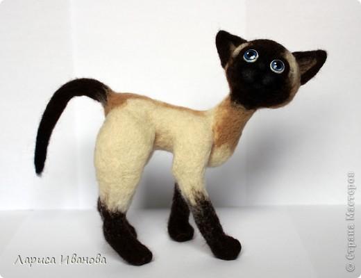 Вот такие сиамочки  меня получились... Это я насмотрелась на кошечек Елены Смирновой. Мне, конечно, до нее очень далеко, но начало положено))). Кроме того, я очень люблю кошек. Так что делались они с большим удовольствием))) фото 5