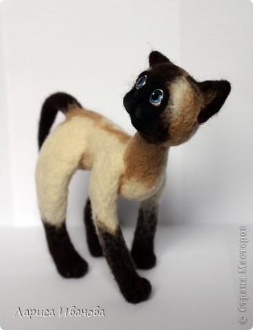 Вот такие сиамочки  меня получились... Это я насмотрелась на кошечек Елены Смирновой. Мне, конечно, до нее очень далеко, но начало положено))). Кроме того, я очень люблю кошек. Так что делались они с большим удовольствием))) фото 6