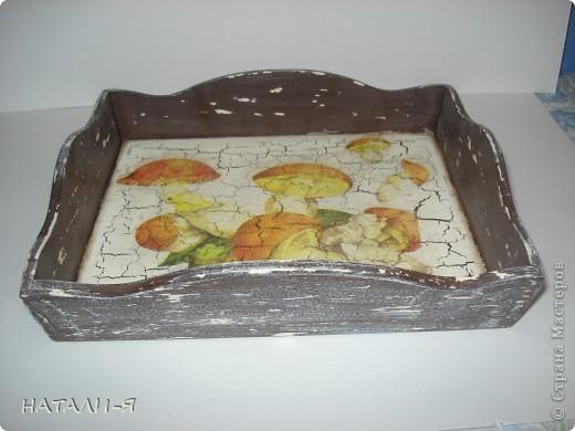 Понос в технике шебби, дно 1шаговый кракелюр. фото 3
