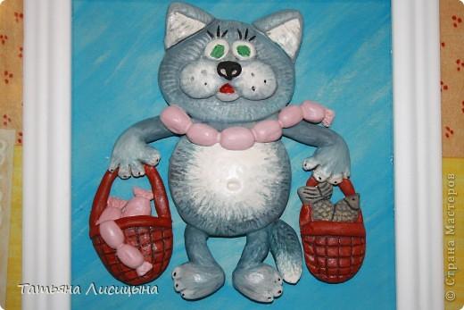 Очень понравился котик по МК Марины Архиповой. Захотелось повторить, вроде удачненько. Вот только котейка оказался без усов. фото 2
