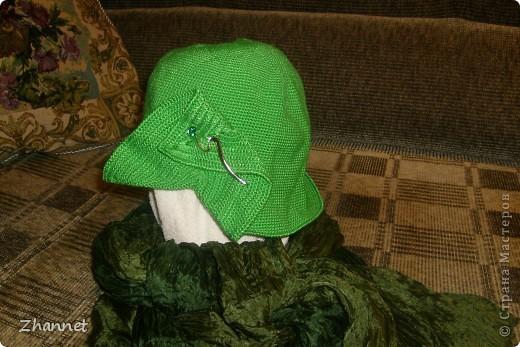 Беретик с козырьком и шарфик фото 10