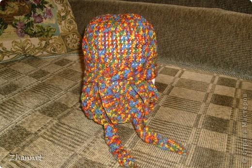 Беретик с козырьком и шарфик фото 12