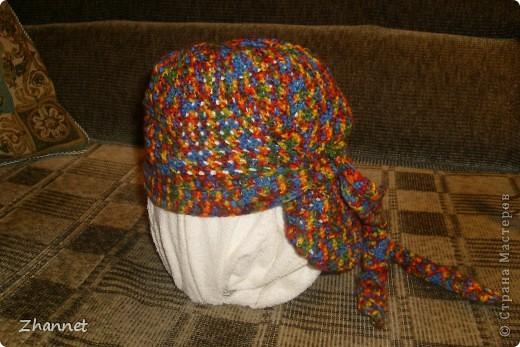 Беретик с козырьком и шарфик фото 13