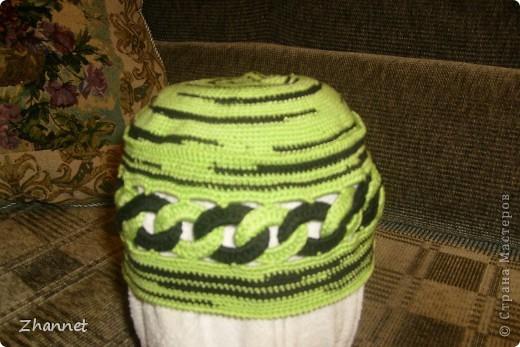 Беретик с козырьком и шарфик фото 14
